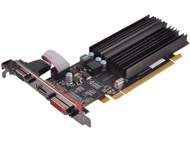 XFX HD-545X-ZQH2 Radeon HD 5450 1GB 64-Bit DDR3 PCI Express 2.1 x16 HDCP Ready Low Profile Ready Video Card