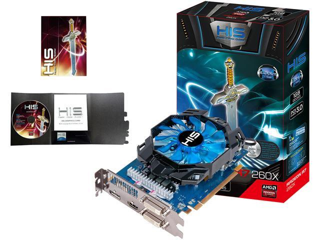 HIS iCooler H260XFN1GD Radeon R7 260X 1GB 128-Bit GDDR5 PCI Express 3.0 x16 HDCP Ready CrossFireX Support Video Card
