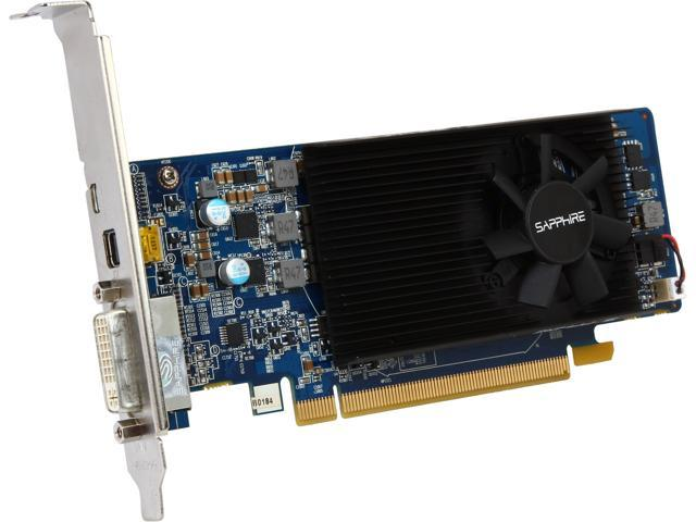 SAPPHIRE 11202-10CPO Radeon HD 7750 1GB 128-Bit GDDR5 CrossFireX Support Low Profile Video Card Manufactured Recertified