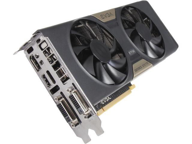 EVGA 04G-P4-3776-RX GeForce GTX 770 4GB 256-Bit GDDR5 PCI Express 3.0 SLI Support FTW 4GB Dual w/ EVGA ACX Cooler Video Card