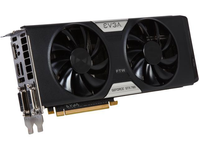 EVGA 03G-P4-3784-RX GeForce GTX 780 3GB 384-Bit GDDR5 PCI Express 3.0 SLI Support Dual FTW w/ EVGA ACX Cooler Video Card Manufactured Recertified