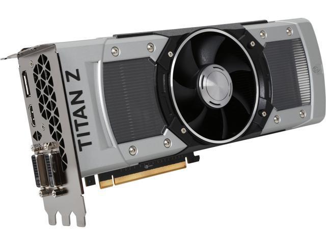 EVGA 12G-P4-3990-KR G-SYNC Support GeForce GTX TITAN Z 12GB 768-Bit GDDR5 PCI Express 3.0 SLI Support Video Card