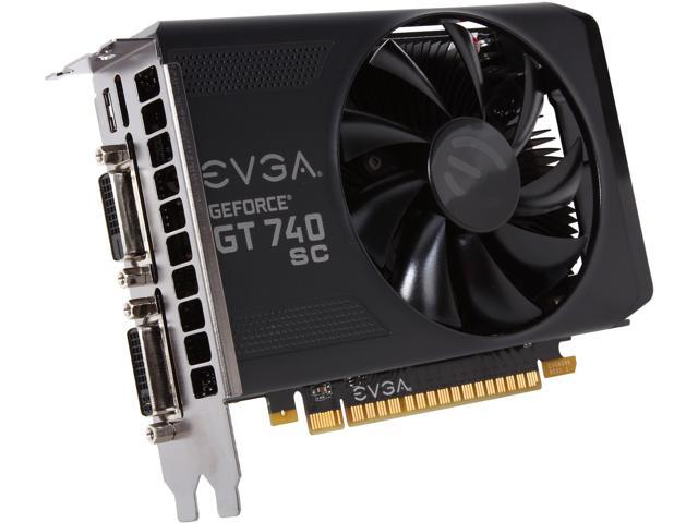 EVGA 01G-P4-3743-KR GeForce GT 740 Superclocked 1GB 128-Bit GDDR5 PCI Express 3.0 Video Card
