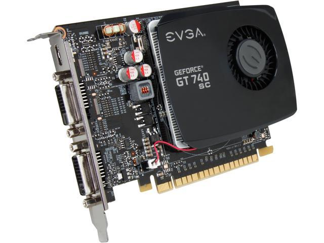 EVGA 04G-P4-2744-KR GeForce GT 740 Superclocked 4GB 128-Bit DDR3 PCI Express 3.0 Video Card
