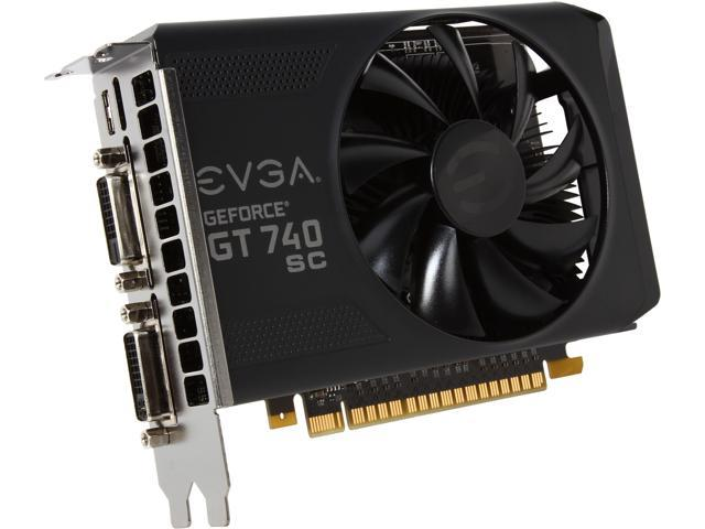 EVGA 02G-P4-2743-KR GeForce GT 740 Superclocked 2GB 128-Bit DDR3 PCI Express 3.0 Video Card