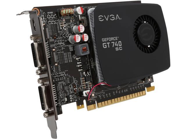 EVGA 02G-P4-2742-KR GeForce GT 740 Superclocked 2GB 128-Bit DDR3 PCI Express 3.0 Video Card