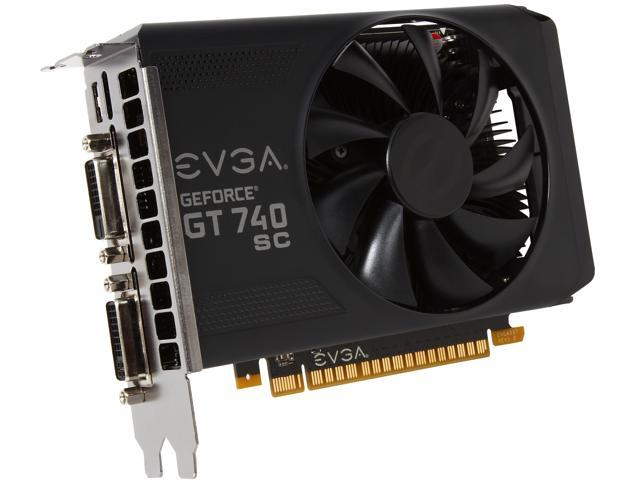EVGA 04G-P4-3748-KR GeForce GT 740 Superclocked 4GB 128-Bit GDDR5 PCI Express 3.0 Video Card