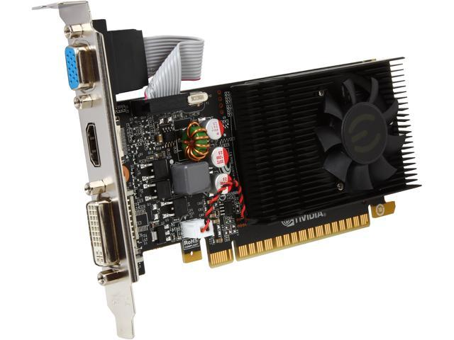EVGA 01G-P3-2730-KR GeForce GT 730 1GB 128-Bit DDR3 PCI Express 2.0 Low Profile Ready Video Card