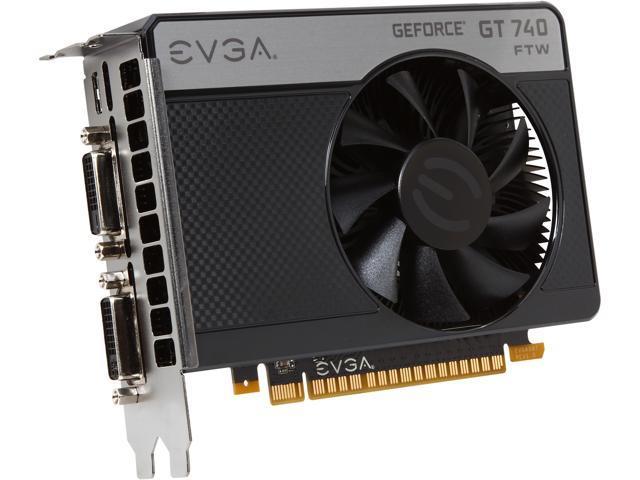 EVGA 02G-P4-3744-KR GeForce GT 740 2GB 128-Bit GDDR5 PCI Express 3.0 x16 Video Card
