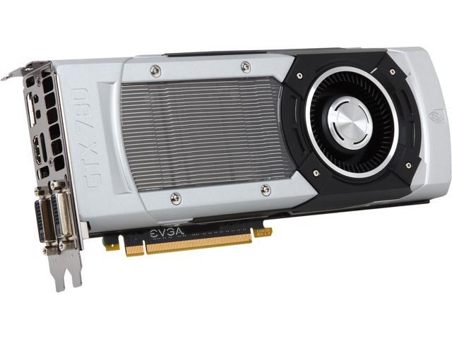 EVGA GeForce GTX 700 SuperClocked 03G-P4-2783-RX GeForce GTX 780 3GB 384-Bit GDDR5 PCI Express 3.0 SLI Support Video Card