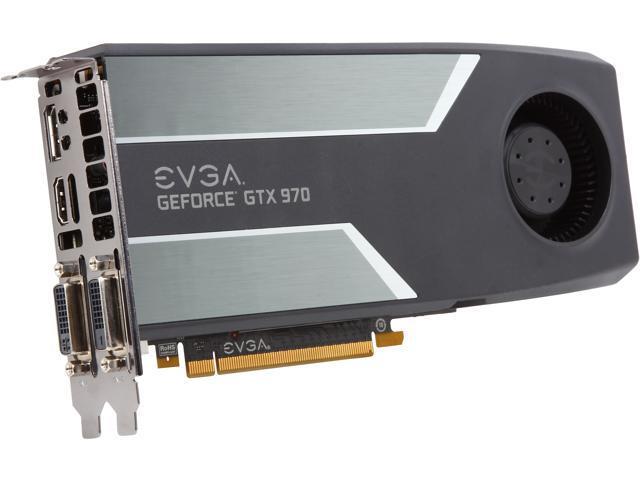 EVGA 04G-P4-1970-KR GeForce GTX 970 4GB 256-Bit GDDR5 PCI Express 3.0 G-SYNC Support Video Card