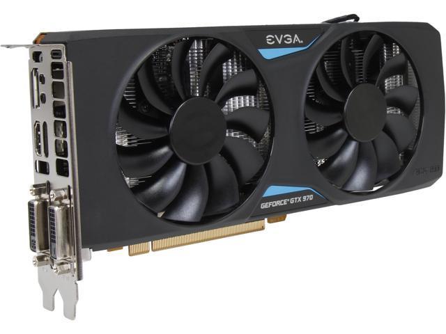 EVGA GeForce GTX 970 04G-P4-2972-KR 4GB 256-Bit GDDR5 PCI Express 3.0 x16 SLI Support ACX 2.0 Video Card (Mail In Rebate $10.0 Expires 08/31/15) ...