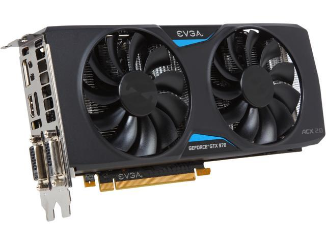 EVGA 04G-P4-2974-KR G-SYNC Support GeForce GTX 970 Superclocked ACX 2.0 4GB Video Card