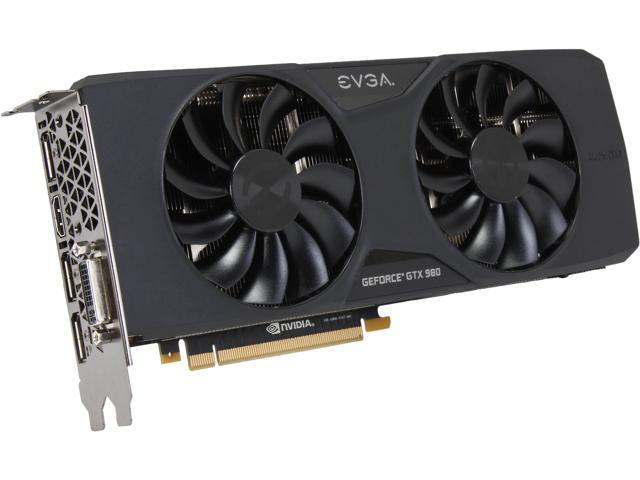 EVGA 04G-P4-2983-KR GeForce GTX 980 4GB 256-Bit GDDR5 PCI Express 3.0 x16 SLI Support Video Card