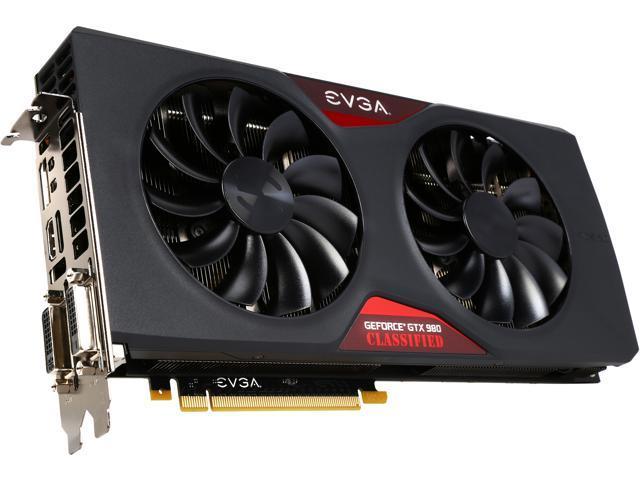 EVGA 04G-P4-3988-KR GeForce GTX 980 4GB 256-Bit GDDR5 PCI Express 3.0 Classified ACX 2.0 Video Card