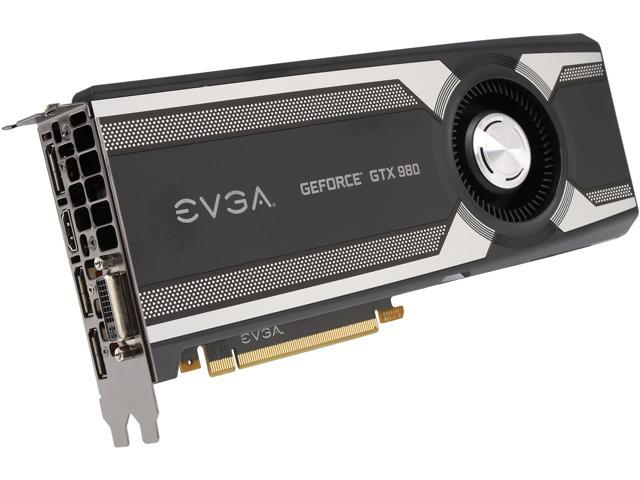 EVGA 04G-P4-1982-KR GeForce GTX 980 4GB 256-Bit GDDR5 PCI Express 3.0 SLI Support Graphics Card