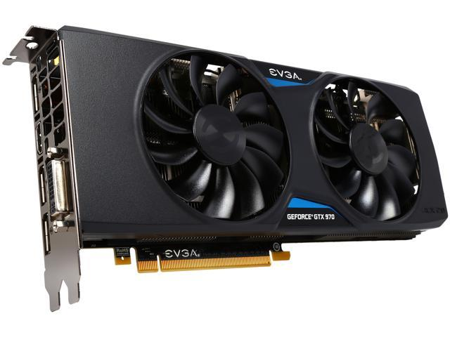EVGA 04G-P4-3975-KR GeForce GTX 970 4GB 256-Bit GDDR5 PCI Express 3.0 SLI Support Graphics Card