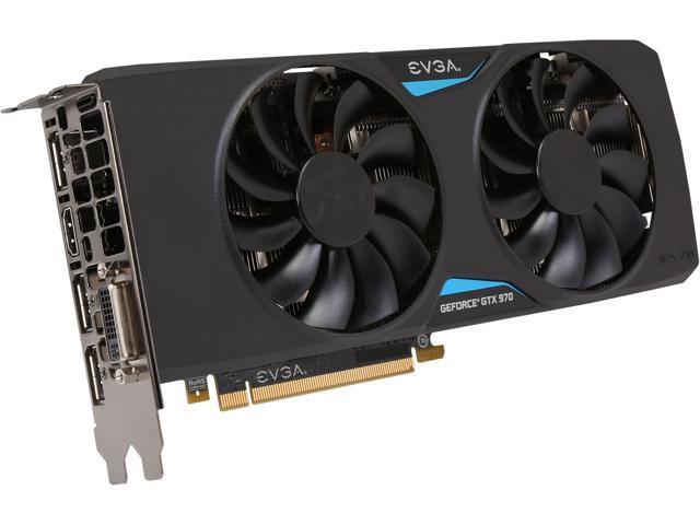 EVGA 04G-P4-3978-KR GeForce GTX 970 4GB 256-Bit GDDR5 PCI Express 3.0 SLI Support FTW+ ACX 2.0 Video Card
