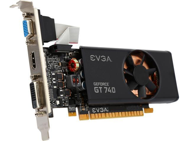 EVGA 02G-P4-2740-KR GeForce GT 740 2GB 128-Bit GDDR3 PCI Express 3.0 Low Profile Video Card