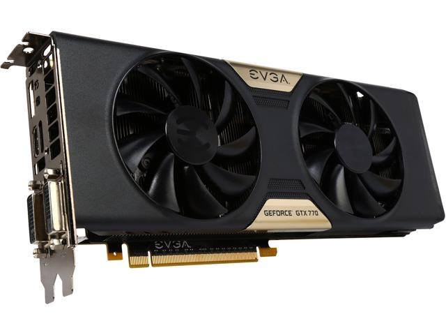 EVGA 02G-P4-2773-RX GeForce GTX 770 2GB 256-Bit GDDR5 PCI Express 3.0 SLI Support Video Card