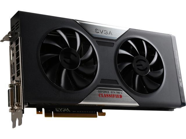 EVGA 03G-P4-2887-RX GeForce GTX 780 Ti 3GB 384-Bit GDDR5 PCI Express 3.0 x16 SLI Support Video Card Factory Refurbished