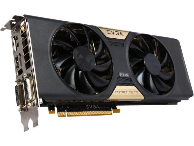 EVGA 02G-P4-3772-RX GeForce GTX 770 2GB 256-Bit GDDR5 PCI Express 3.0 SLI Support FTW w/ ACX Cooler Video Card