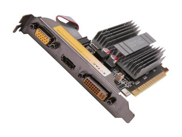 ZOTAC ZT-20313-10L GeForce 210 1GB 64-Bit DDR3 PCI Express 2.0 x16 HDCP Ready Low Profile Ready Video Card