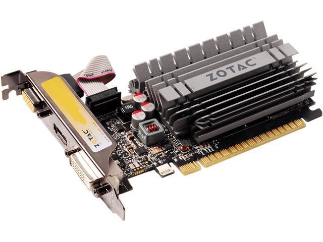 ZOTAC ZT-60409-20L GeForce GT 630 2GB 64-Bit GDDR3 PCI Express 2.0 HDCP Ready Low Profile Ready ZONE Edition Video Card