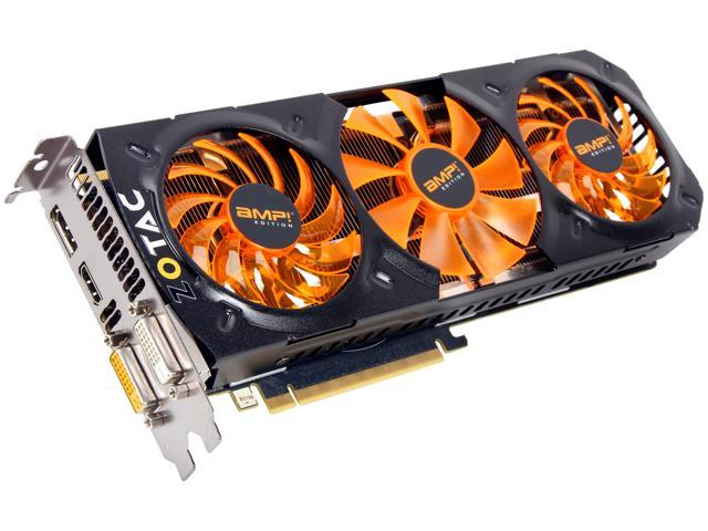 ZOTAC AMP! SUPERCLOCKED ZT-70504-10P G-SYNC Support GeForce GTX 780 Ti 3GB 384-Bit GDDR5 PCI Express 3.0 x16 HDCP Ready SLI Support Video Card