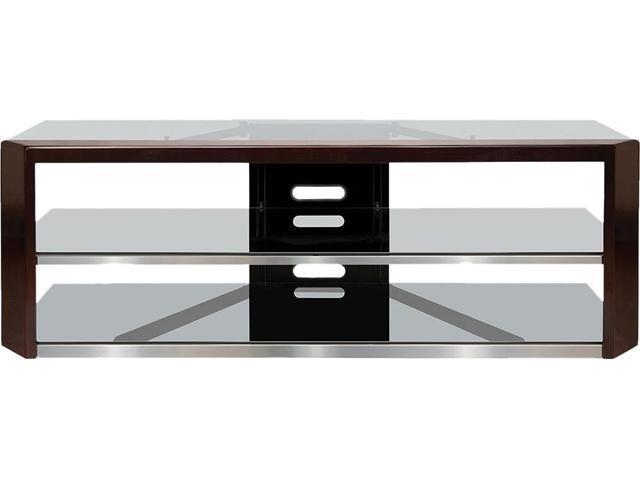 Bello AVSC2164 Dark Espresso Wood Frame Audio/Video TV Stand for 65