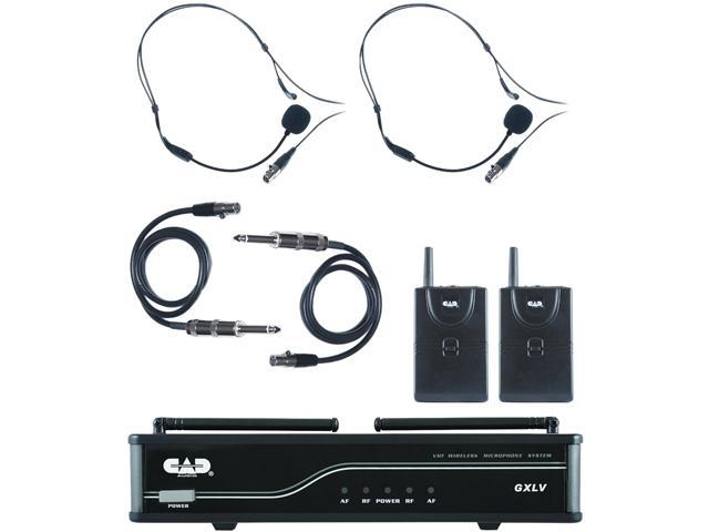 CAD Audio GXLVBB-J VHF Wireless Dual Bodypack Microphone System - J Frequency Band