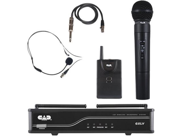 CAD Audio GXLVHB-H VHF Wireless Combo Handheld and Bodypack Microphone System - H Frequency Band