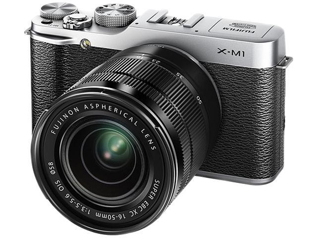 Fujifilm X-M1 Mirrorless Digital Camera with XC 16-50mm f/3.5-5.6 OIS Lens (Silver)