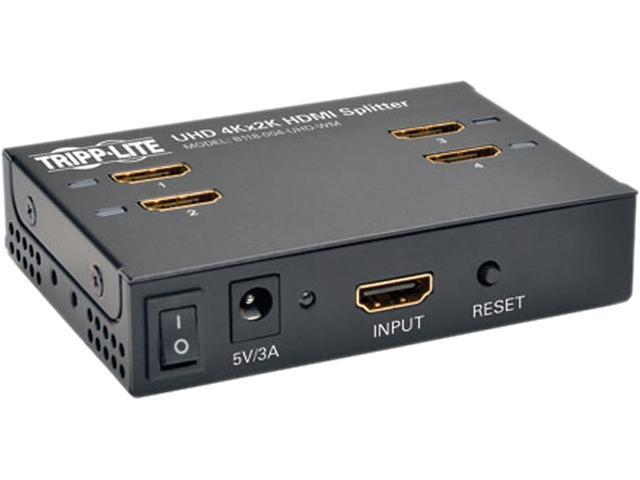 Tripp Lite 4-Port Wall Mountable 4K HDMI Splitter for Ultra-HD (4Kx2K) Video and Audio - 3840x2160 B118-004-UHD-WM