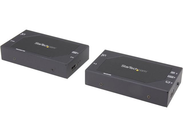 StarTech HDMI to CAT5 Extender W/ Optional Repeater Functionality and Audio ST12MHDDC