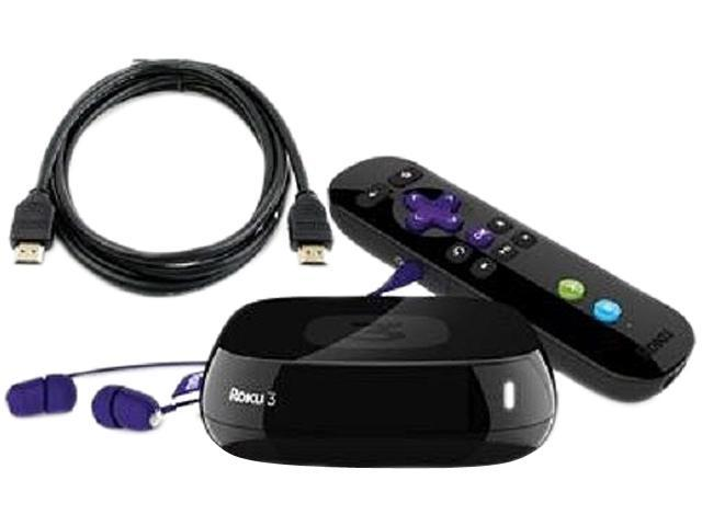 Roku 3 Digital HD Streaming Media Player w/ Headphones Game Remote and HDMI Cable