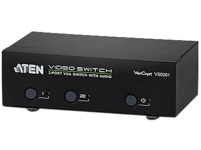 ATEN 2-Port VGA Switch with Audio VS0201