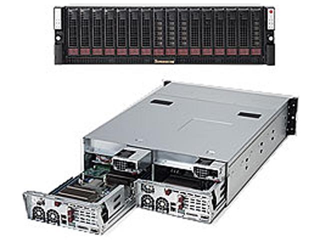SUPERMICRO SYS-6036ST-6LR 3U Rackmount Server Barebone (Two Systems) Dual LGA 1366 Intel 5520 DDR3 1333/1066/800