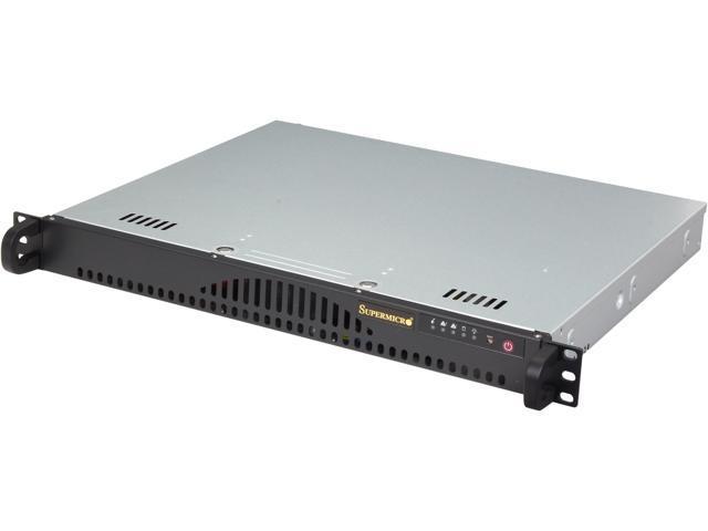 SUPERMICRO SYS-5018A-MLTN4 1U Rackmount Server Barebone (Black) FCBGA 1283 DDR3 1600/1333