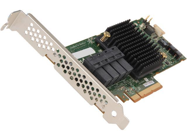 Adaptec Series 7 2274500-R 71605ESinglePCI-Express 3.0 x8 Low Profile SATA / SAS RAID Controller Card