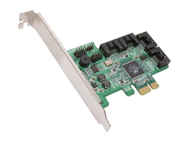 HighPoint RocketRAID 2640x1 PCI-Express x1 Four-Port SATA and SAS RAID Controller Card