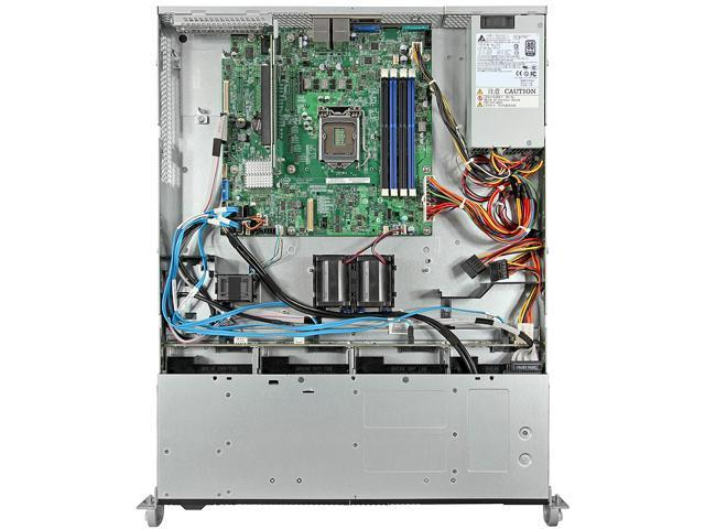 Intel R1304RPOSHBN 1U Rack Server Barebone LGA 1150 Intel C224 DDR3 1600/1333