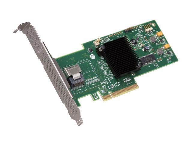 LSI MegaRAID Internal Low-Power SATA/SAS 9240-4i 6Gb/s PCI-Express 2.0 RAID Controller Card, Single