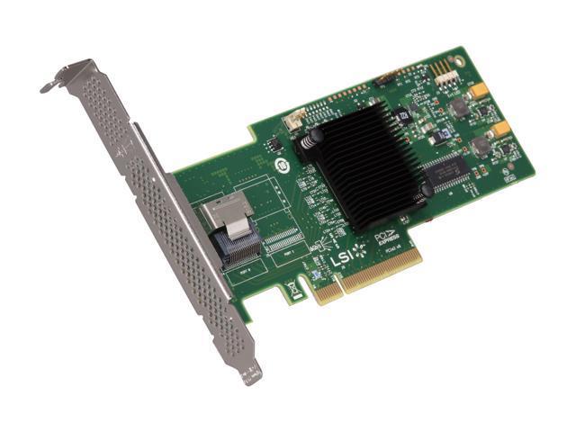 LSI MegaRAID Internal Low-Power SATA/SAS 9240-4i 6Gb/s PCI-Express 2.0 RAID Controller Card, Kit