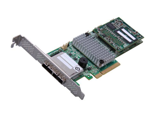 LSI MegaRAID LSI00332 (9286-8e) PCI-Express 3.0 x8 Low Profile SATA / SAS RAID Controller - Single--Avago Technologies