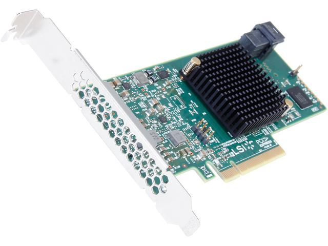 LSI 9300-4i PCI-Express 3.0 SATA / SAS 4-Port SAS3 12Gb/s HBA - Single--Avago Technologies