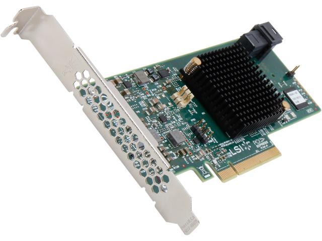 LSI MegaRAID SAS 9341-4i (LSI00419) PCI-Express 3.0 x8 Low Profile SATA / SAS High Performance Four-Port 12Gb/s RAID Controller (Single ...