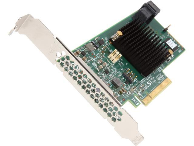 LSI 9341 MegaRAID SAS 9341-4i (LSI00406) PCI-Express 3.0 x8 Low Profile SATA / SAS High Performance Four-Port 12Gb/s RAID Controller (Kit)--Avago ...
