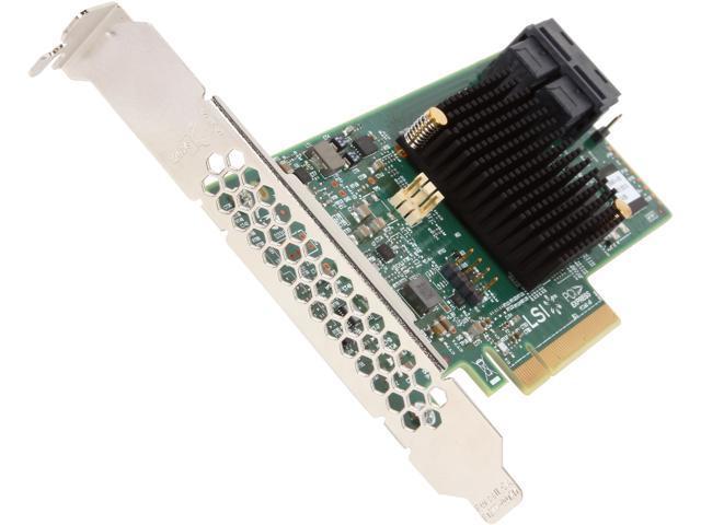 LSI MegaRAID SAS 9341-8i (LSI00408) PCI-Express 3.0 x8 Low Profile SATA / SAS High Performance Eight-Port 12Gb/s RAID Controller (Kit)
