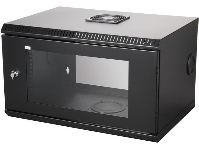StarTech RK619WALL 6U 19in Wall Mount Server Rack Cabinet w/ Acrylic Door